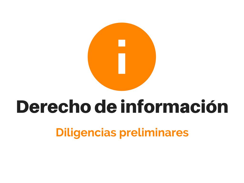 Derecho de información del socio y diligencias preliminares